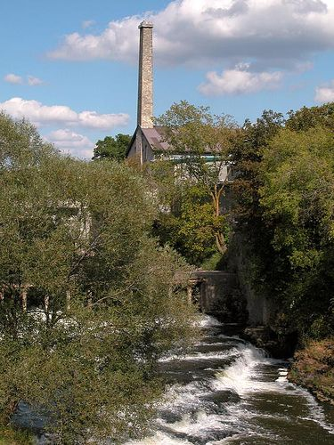 Old Mill on the river at Fergus, Ontario