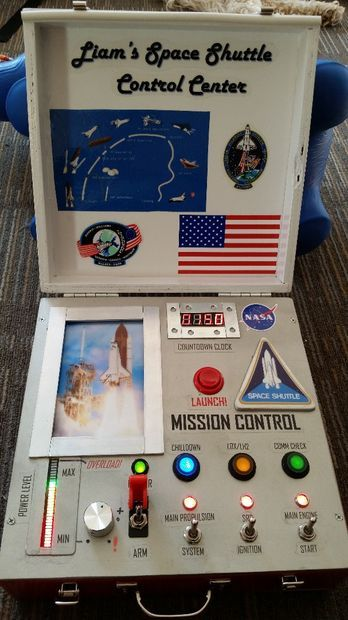 Picture of Space Shuttle Control Center (Kid's Toy) I tried so hard to make one of these for my kids when they were little....But needed help with the wiring!!