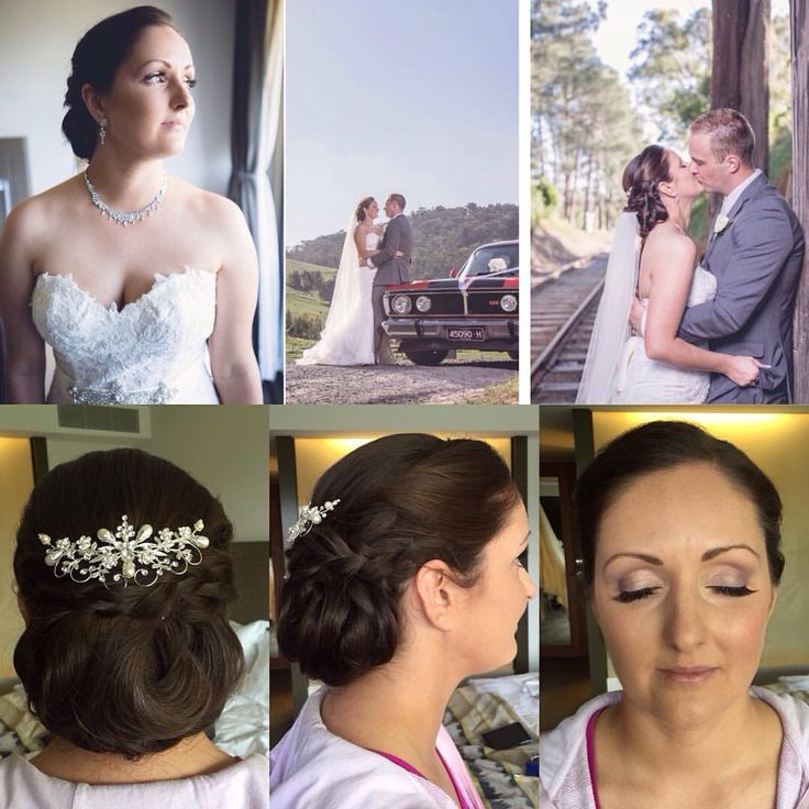 low structured do bun and soft neutral tones for this beautiful bride