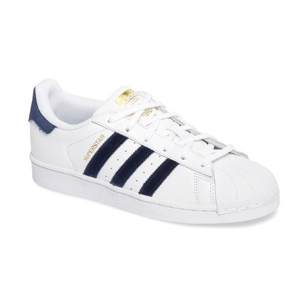 Women's Adidas Superstar Sneaker (270 PLN) ❤ liked on Polyvore featuring shoes, sneakers, adidas, adidas footwear, adidas shoes, adidas trainers and retro shoes