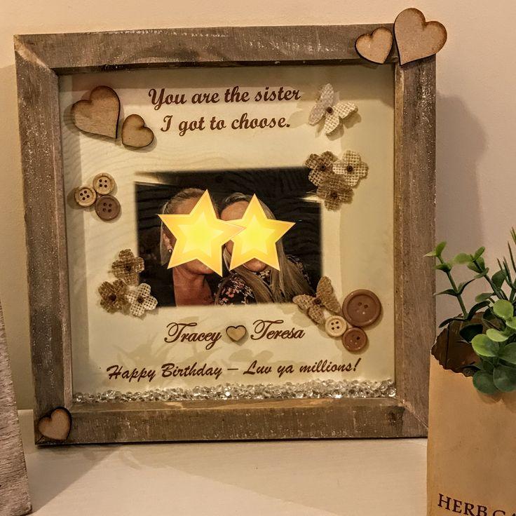 Personalised Embellished Photo Frame. Personalised Picture Frame Personalised gift Personalised frame Baby girl gift boy gift Baby naming gift Photo frame Personalized gift