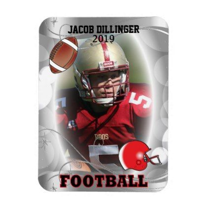Football Player Photo Template Designs Magnet - photos gifts image diy customize gift idea