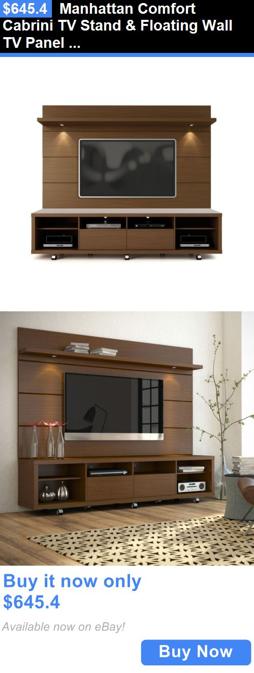 Entertainment Units TV Stands: Manhattan Comfort Cabrini Tv Stand And Floating Wall Tv Panel And Led Lights BUY IT NOW ONLY: $645.4
