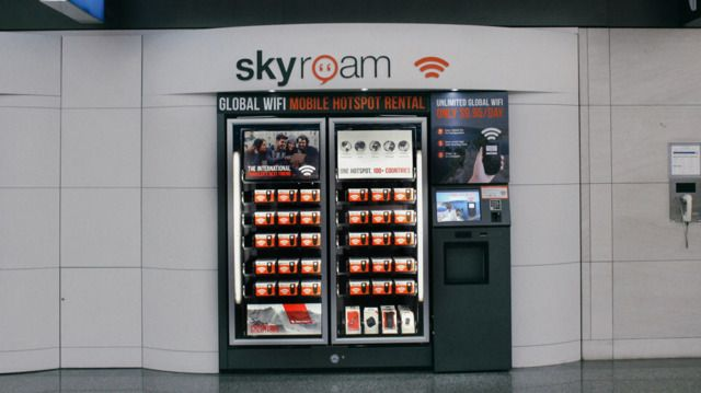 Pick Up Global WiFi On The Fly With Skyroam's New Airport Vending Machines