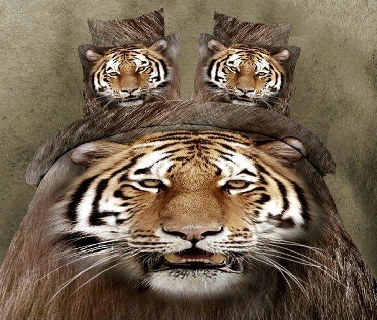 dropship polyester 3D bloem tijger leeuw leopard Monroe steeg beddengoed laken set bedlinnen dekbedovertrek set beddengoed set