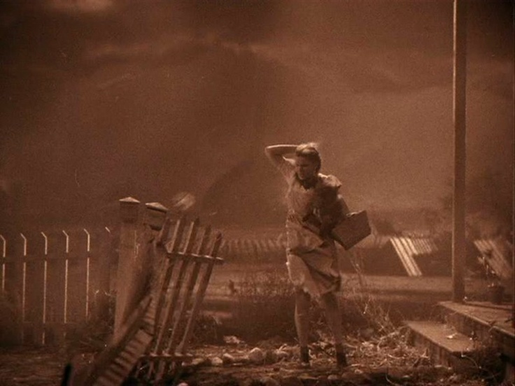 Dorothy's Tornado...much like mine.  http://stephsscribe.com/2013/02/19/three-haunting-recurring-nightmares-what-do-they-mean/#
