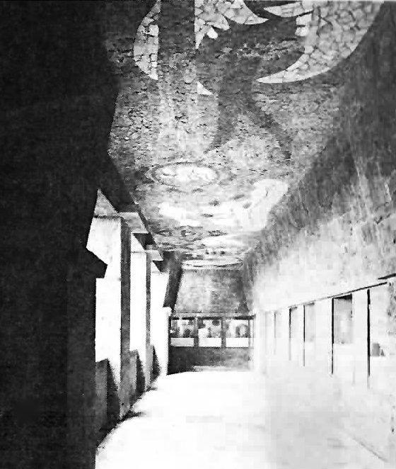 Vista interior, Museo Anahuacalli (también conocido como Museo Diego Rivera Anahuacalli), Museo 150, San Pablo Tepetlapa, Coyoacán, México DF 1955-1963  Arqs. Juan O'Gorman, Ruth Rivera y Heriberto Pagelson -  Interior view, Museo Anahuacalli (also known as Museo Diego Rivera Anahuacalli), Museo 150, San Pablo Tepetlapa, Coyoacán, México DF 1955-1963