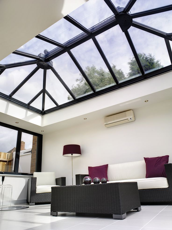 stunning grey aluminium orangery by ultraframe with. Black Bedroom Furniture Sets. Home Design Ideas
