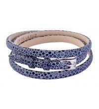 Leren armband buckle stingray navy blue