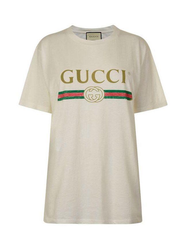 9fa9d524c GUCCIFAKE LOGO T SHIRT at flannels.com   Gucci designer   Gucci designer,  Mens tops, Gucci