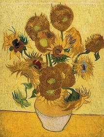Van Gogh painted Sunflowers in Arles before the painter Paul Gauguin came to live with him. He produced several still lifes of sunflowers to decorate Gauguin's room: 'flower-pieces with nothing but Sunflowers in a yellow earthenware pot. Painted with the three chrome yellows, yellow ochre and Veronese green and nothing else.'