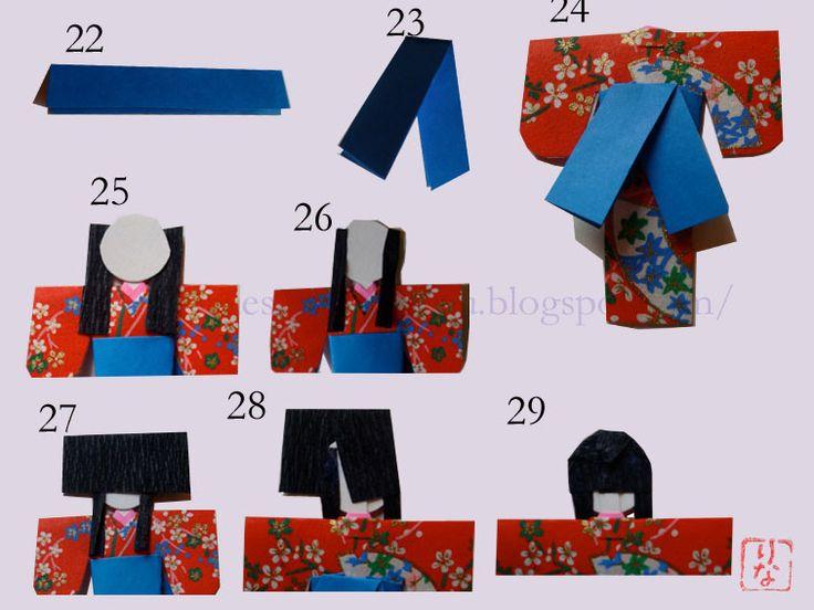 手作り和紙人形  jAPANESE PAPER DOLLS - WASHI NINGYO