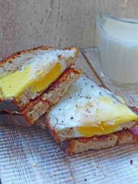 Bacon & ei sandwich