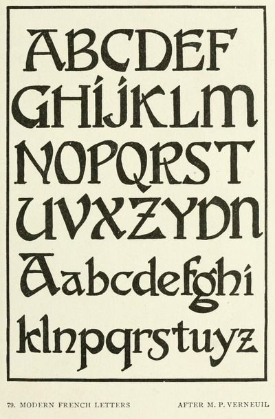 Modern french alphabet from the public domain ebook