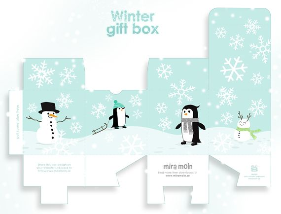 Free Printable Winter Gift Box