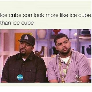 Ice Cube son look more like Ice Cube than Ice Cube LOL