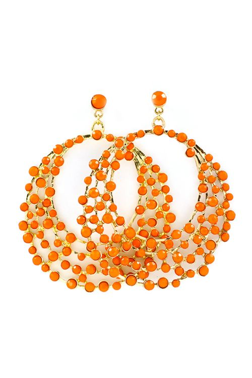 Raileen Statement Earrings in Coral #JillyBeads