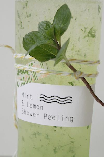 Minz-Zitronen-Peeling