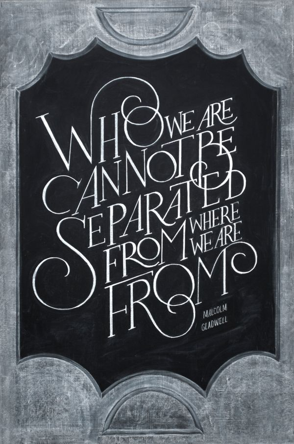 You! Be Inspired! – Dangerously Beautiful Chalkboard Typography