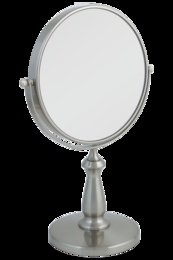 8X Magnifying Mirror with Satin Nickel Finish