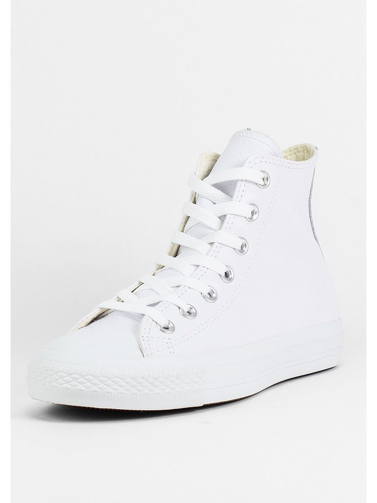 snipes converse schuh chuck taylor leather hi white monochrome gr 37 89 90 white converse. Black Bedroom Furniture Sets. Home Design Ideas