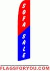 Sofa Sale Wind Feather Flag 2.5' x 11.5'