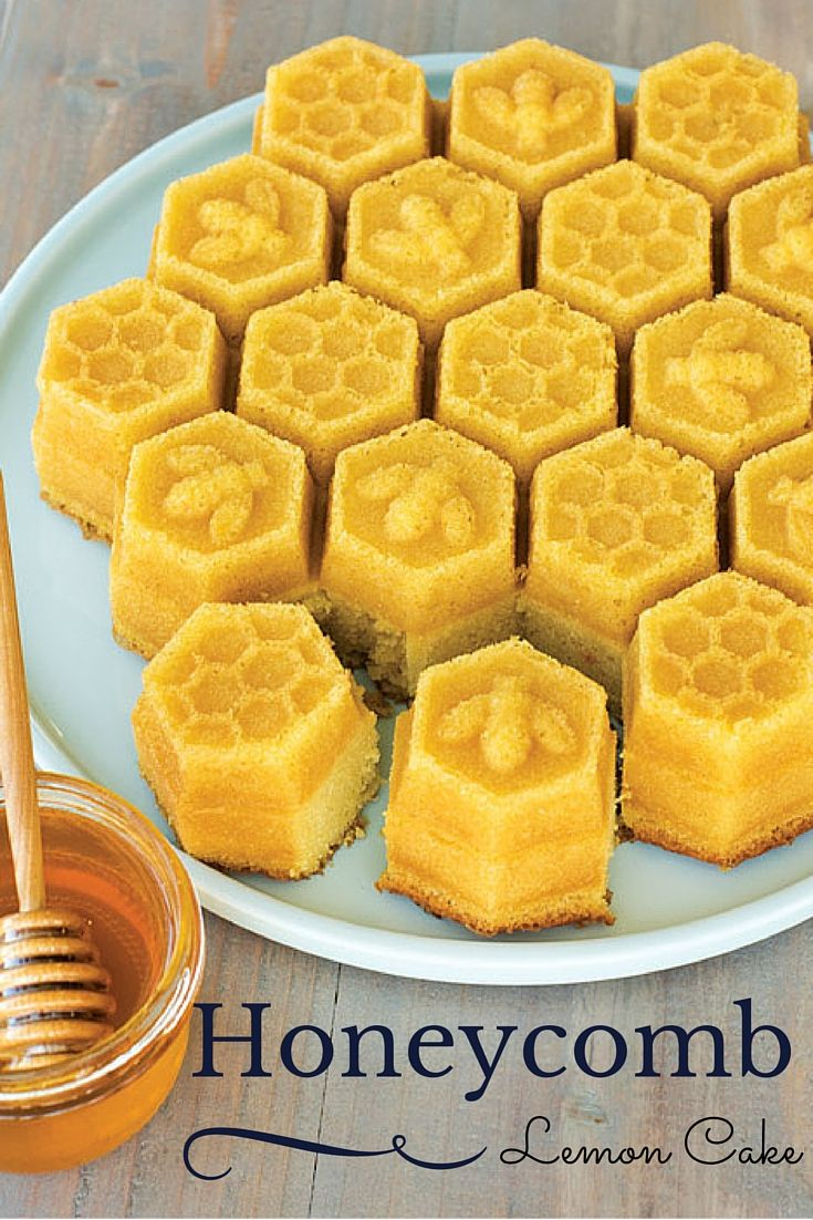 Lemon Honeycomb Pull-Apart Cake with a touch of honey! Nordic Ware (I want this pan!)
