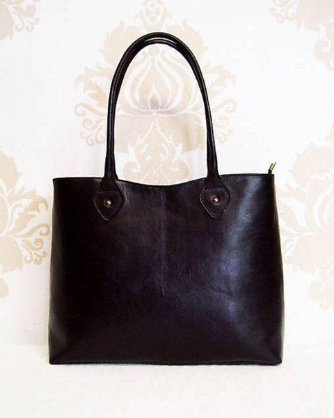 "Timeless classic big ""Clementine Black""handbag.  from Dajana Rodriguez by DaWanda.com"