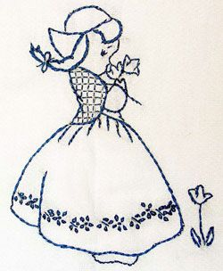 Sarahs Hand Embroidery tutorials . here: bluework lessons, dutch girl .