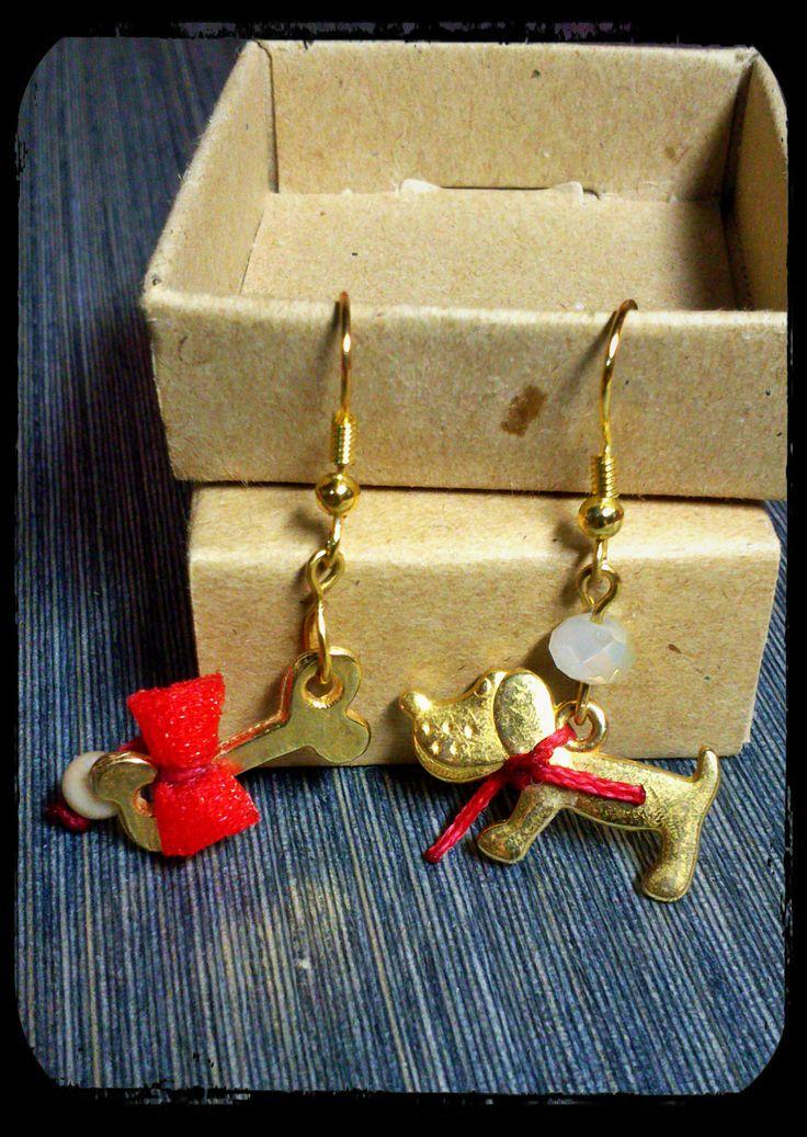 dog&bone earrings #jewelry #earrings #handmade