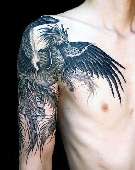 phoenix arm tattoo for man