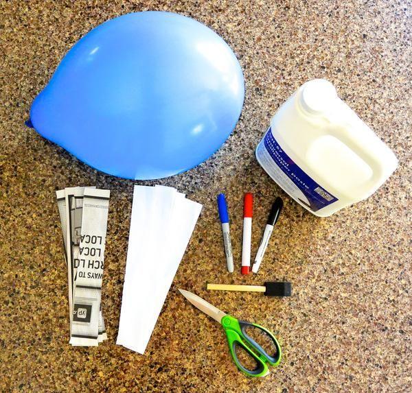 Astronaut Paper Mache Helmet Craft: How To