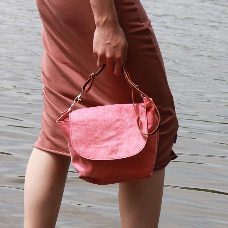 #cadoaccessories leather saddle bag & organic cotton dress