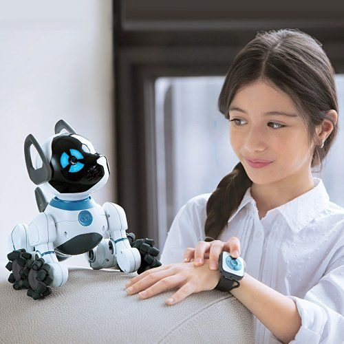 The WowWee chip interactive robot pet dog is a great gift for this Christmas. He's an affectionate and emotive robotic companion, great for those with allergies or who want a no-mess pet.