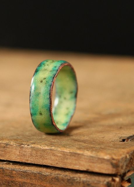 enamel ring...pinned by ♥ wootandhammy.com, thoughtful jewelry. More
