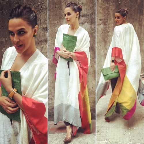 Neha Dhupia in Payal Khandwala for an event for Habitat for Humanity organised by Podar International School