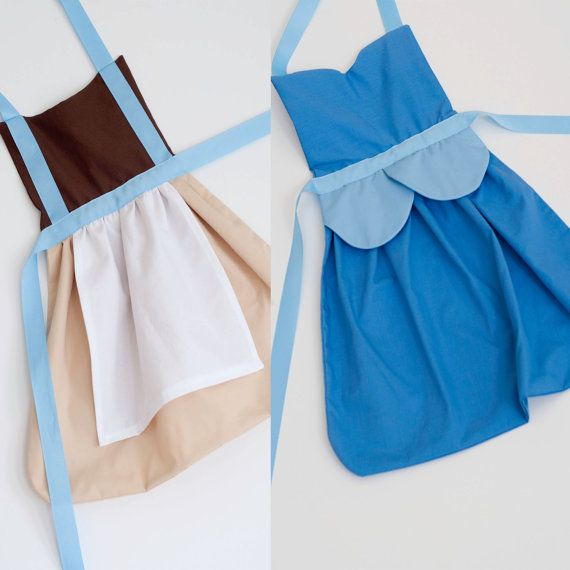 princess Cinderella dress up aprons set for by SimplyRoyalDress, $50.00