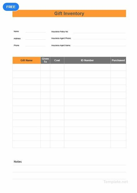 free gift inventory inventory templates designs 2019 pinterest