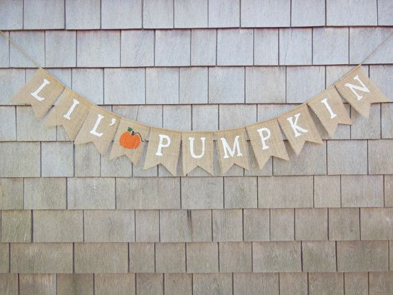 Little Pumpkin Banner Little Pumpkin Baby by IchabodsImagination