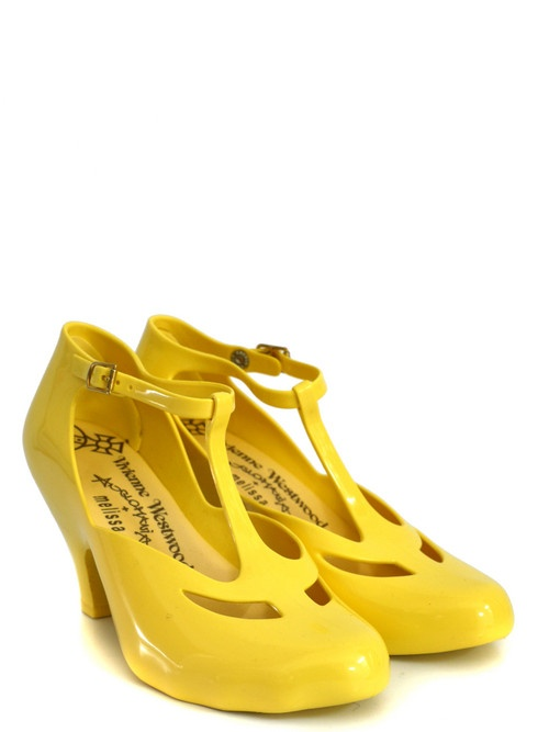 yellow booties | Vivienne Westwood - Anglomania Mary Jane Custard Yellow Shoes at ...cute!!!!