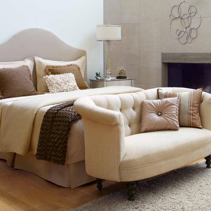 Colette Flax Beige Loveseat Bedrooms Master Bedroom And House Makeovers