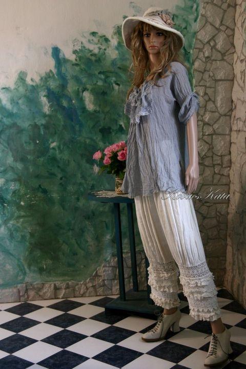"""""""Viktória""""-bugyogó - lenvászonból-rendelésre készül!, Ruha, divat, cipő, Női ruha, Nadrág, Meska"""