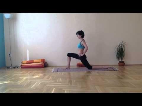 Jóga otthon - a derék, a gerinc és a nyak átmozgatása ülőmunkát végzőknek - YouTube