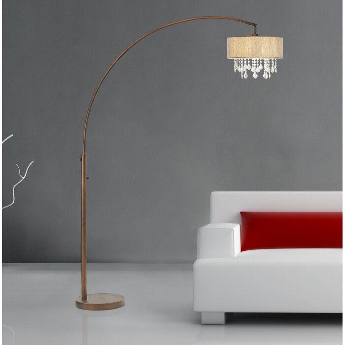 Rosdorf Park Elena 81 Led Arched Floor Lamp Wayfair Arched