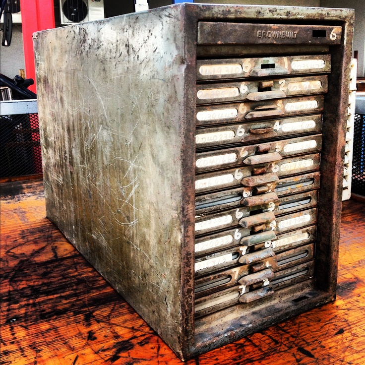 Industrial filing drawers - very unusual!