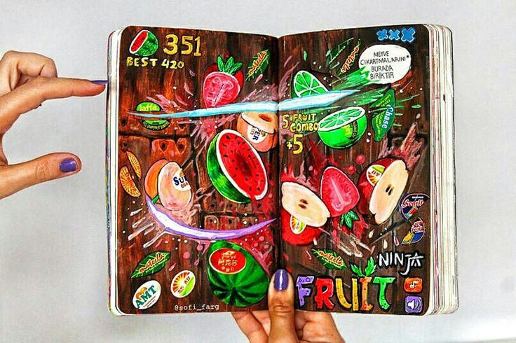 Wreck This Journal fruit stickers