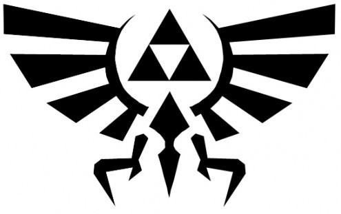 Legend of Zelda Symbol Vinyl Wall Decal by IkonicWalls on Etsy, $10.00