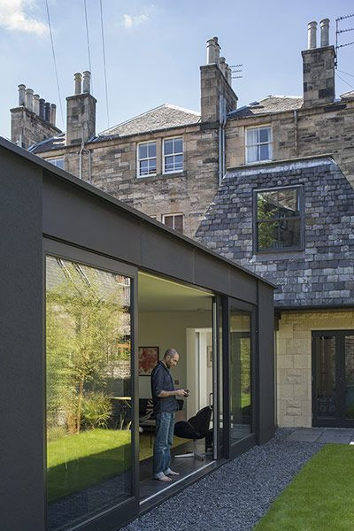 homes - edinburgh house: new extension attached to older building