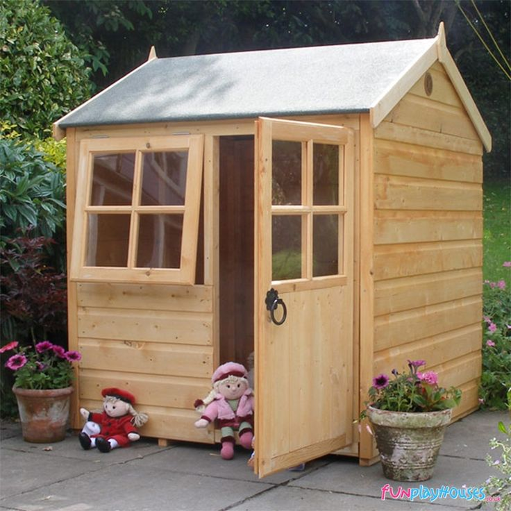 15 best playhouse ideas images on pinterest playhouse for Wooden wendy house ideas