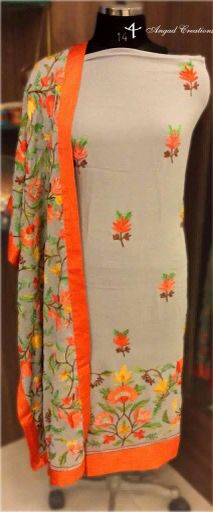 Aari Embroidered Suit #ethinc #designer #women #wear #colours #stylish #indian #fashion #embroidery.